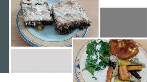 Sellerschnitzel, Ofengemüse & Mohn-Orangen-Schnitte