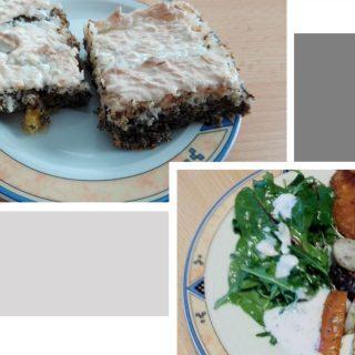 Ofengemüse, Sellerieschnitzel und Kuchen