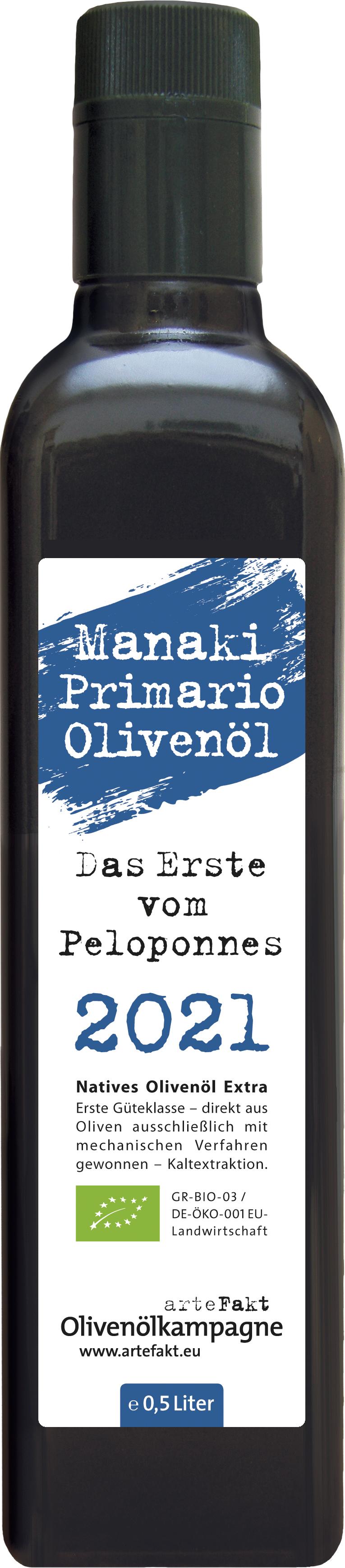 Bio Primario Olivenöl  - Ernteherbst 2021