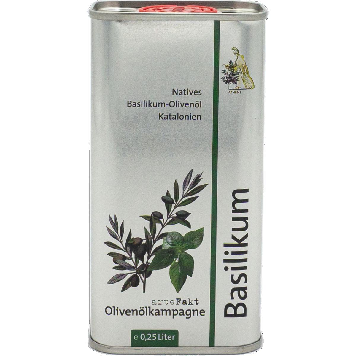 Bio Basilikum-Olivenöl, nativ
